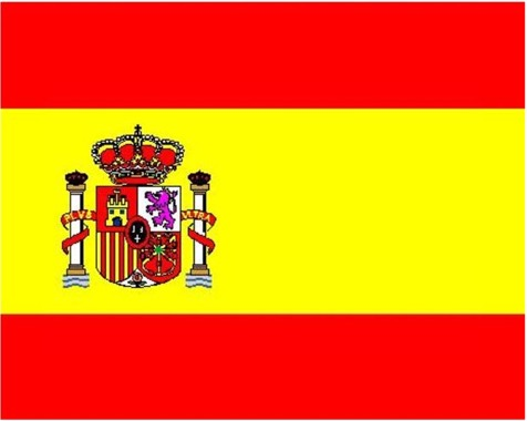 The colours,red and yellow, were chosen as the colours for Spain in 1785.