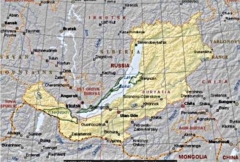 sibirien karta Sibirien