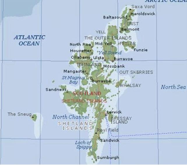 Karta Over Shetlandsoarna Karta 2020